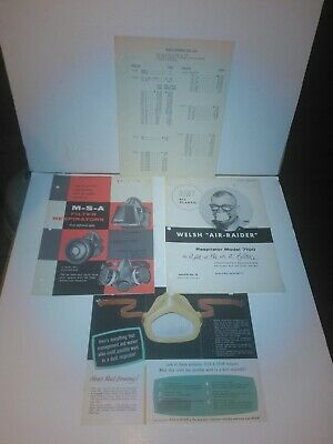 VTG 1957 M.S.A-Welch Respirators Bureau Of Mines -Safty Pamphlets & Price List