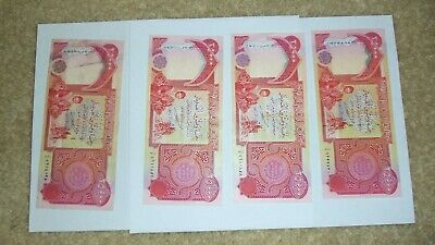 Iraqi Dinar Banknotes Currency 100,000 Lightly used (4 x 25,000)Real IRAQ Money