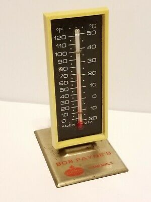 Vintage BOB PAYNES Champaign Illinois STANDARD OIL Advertising THERMOMETER