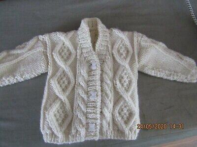 Hand Knitted Pure Wool Baby Cardigan