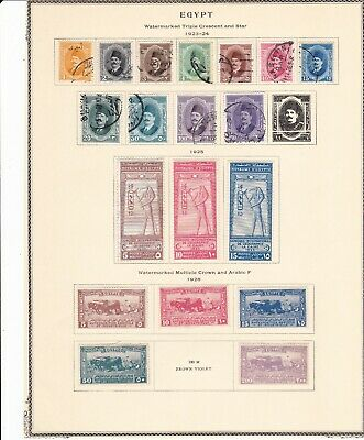 Egypt British Africa 1923-1926 on 2 Pages