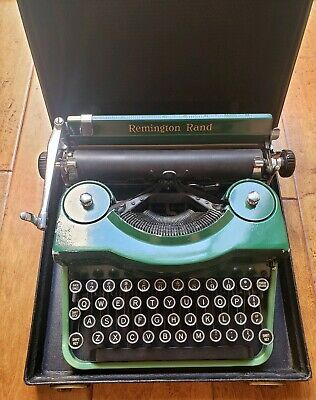 Rare Antique Remington Rand Model 1 Portable Typewriter With Case Keys Works