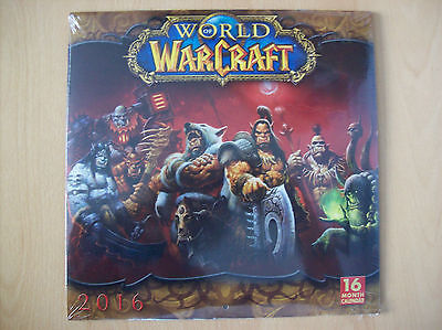 World of Warcraft Square Wall Calendar + In Game Reminder Stickers New & Sealed