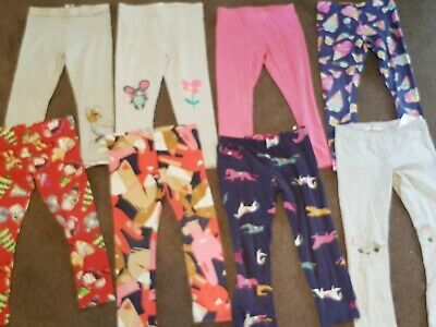 8 Pairs Of Girls Leggings Mainly From Next Age 4 Years Good Condition 💜