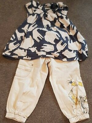 NEXT Safari / Elephant - Age 4-5-6 Years Top & Trousers Outfit