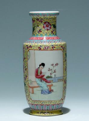 Nice handpainted Chinese Rouleau Vase - Mid of 20th C.     #324