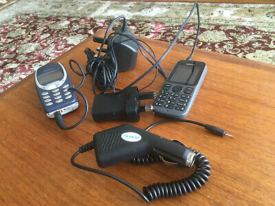 Nokia Old Phones two with chargers