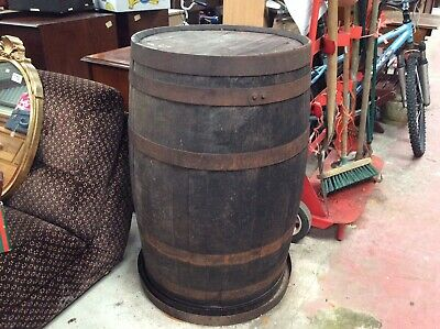 Solid Oak Whisky & Beer Keg Wooden Barrel For Outdoor Garden. Brewery Barrels.