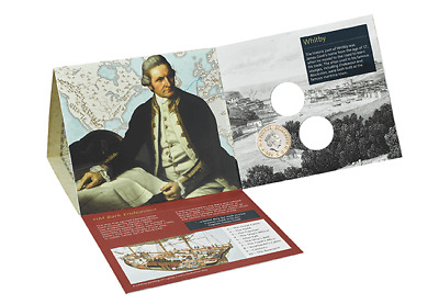 2018 Royal Mint Captain Cook  2 Two Pound Brilliant Uncirculated Coin Pack Mint