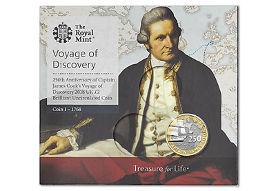 2018 Royal Mint Captain Cook  2 Two Pound BU Coin Pack Mint