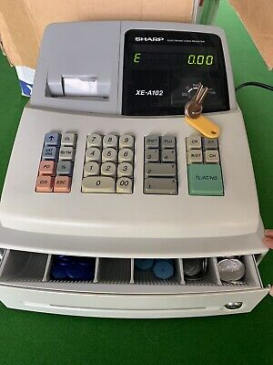 SHARP XE-A102 CASH REGISTER- Good Condition Brought. Used In House Only