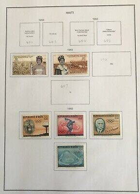 Small Collection of Haiti Stamps, 1960 To 1966