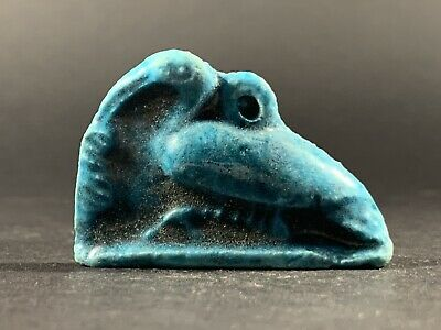 Ancient Egyptian Faience Ibis Nile Bird - Lovely Blue Colouring Circa 770-332Bc