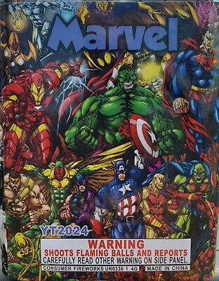 Marvel 200g cut off collectable Firework labels (Yeti, fireworks)