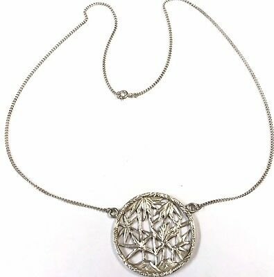 Vintage Chinese Silver BAMBOO Pendant Chain Necklace GIFT BOXED