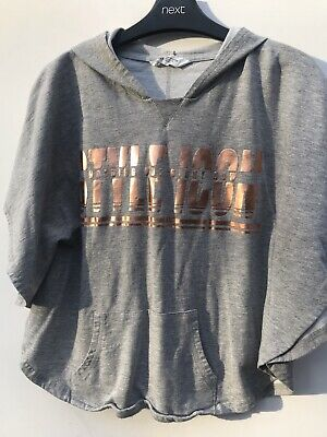 H&M Girls Grey Hoodie 14yrs Excellent Condition