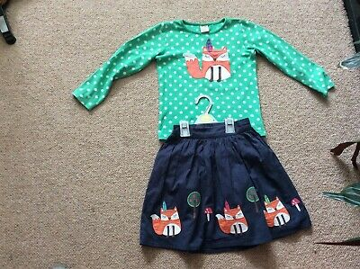 Frugi girls Oufit Age 8 - 9 Yrs Gorgeous Foxy Top And Skirt