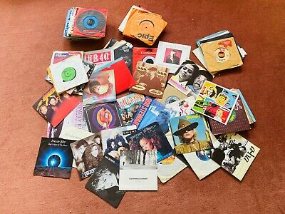 "Job Lot of 110 7"" Vinyl Singles Pop / Rock / Soul Records ALL PICTURED"
