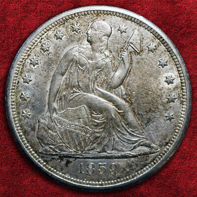 1859-O Seated Liberty Silver Dollar, Very High Grade! *Bu*