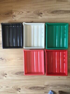 "FIVE Darkroom Developing Trays - 10"" x 8"" , Used"