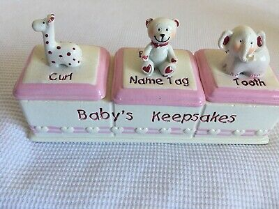 Baby Girl Keepsake Trinket Box