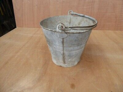 Vintage Galvanised Bucket /  Planter