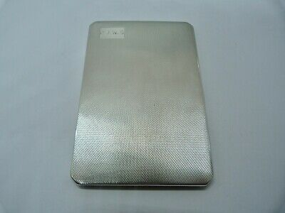 1957 - ADIE BROTHERS - SOLID SILVER - CIGARETTE CASE - 177.8 grams