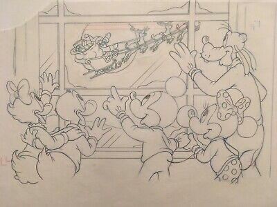 MICKEY MOUSE & Friends -- Original Prod Illustration Art Drawing (Walt Disney)