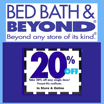 BED BATH & BEYOND: 20% Off One Item Coupon * Exp 6/30/20