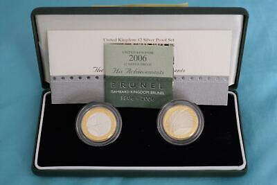 GB 2006 UK Brunel £2 x 2 Silver Proof Coin Set by Royal Mint
