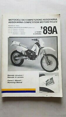 Husqvarna 510 TC-TE-TX 1989 manuale uso officina originale 4 stroke shop manual