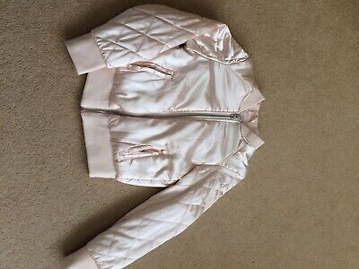 Girls H&M Satin Bomber/Summer Jacket Age Approx 8-9