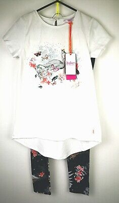 baker by ted baker girls top and leggings set age 11-12 new with tags