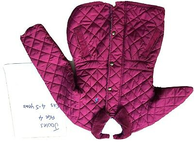 Joules Pink Quilted Age 4-5 Girls Coat