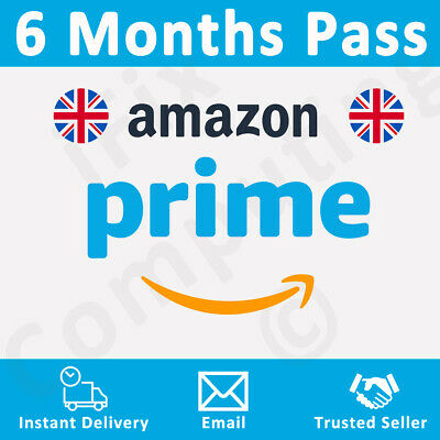 Amazon Prime 6 Months Pass 🔥 Prime Delivery, Video & Music 👑 UK Only