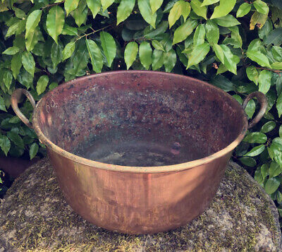 VINTAGE COPPER POT Maple & Co 19th C Twin Handle Antique Garden Planter Stunning