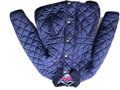 Joules Navy Girls Age 4-5 Quilted Coat
