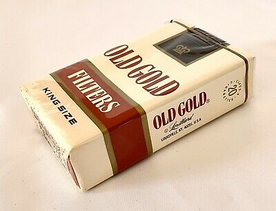 "Vtg Old Gold Filter Kings Cigarettes Soft Pack Package Sign Display Only ""empty"""