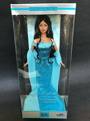 December Turquoise Birthstone Barbie Doll African American AA