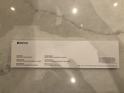 44mm Black Sport Band - Regular Factory Apple New In Package