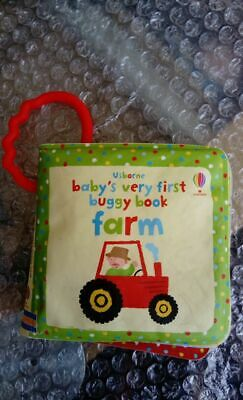 Buggy Book Baby's First Usborne Farm Story Play Baby Padded Waterproof