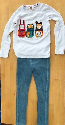 Girls' Marks & Spencer Trousers/Long-Sleeved Top Set Animal Embroidery