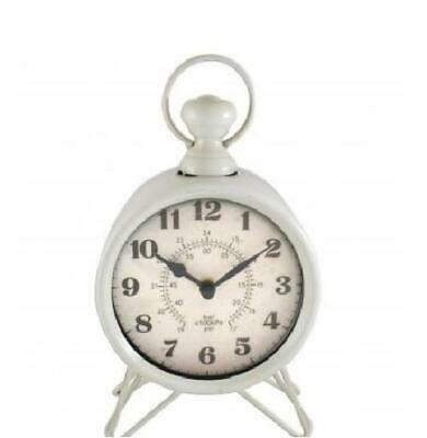 Westclox Top Ring Silver Metal and Brown Western Rope Decor Quartz Table Clock