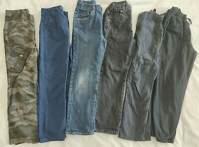 Bundle Of 6 pairs Boys Trousers / Jeans 7-8 Yrs