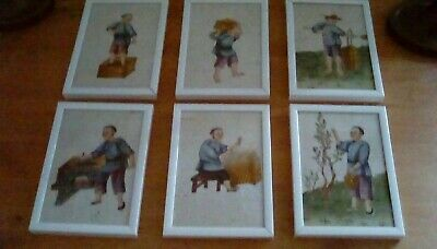 Antique Pith Paper Pictures