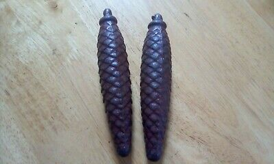 Vintage Pair Of Cuckoo Clock  Weight Pine Cone - Antique Clock's Parts