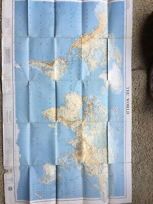 American Geographical Society Map Of The World 1960S Vintage