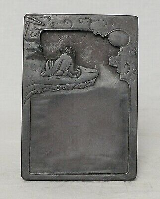 Chinese  Brown  Ink  Stone    M3632