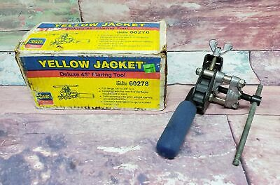 """Yellow Jacket 60278 1/8"""" - 3/4"""" OD Deluxe 45 Degree Flaring Tool w Box"""