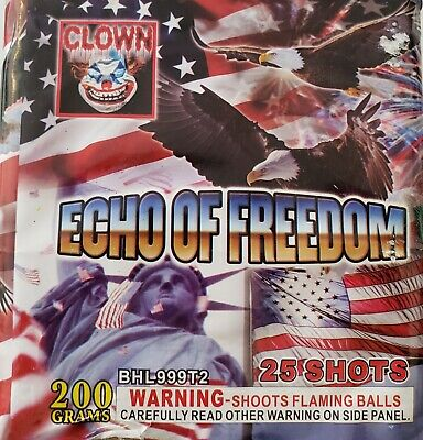 Echo of Freedom 200g cut off collectable Firework labels (salute, Clown)